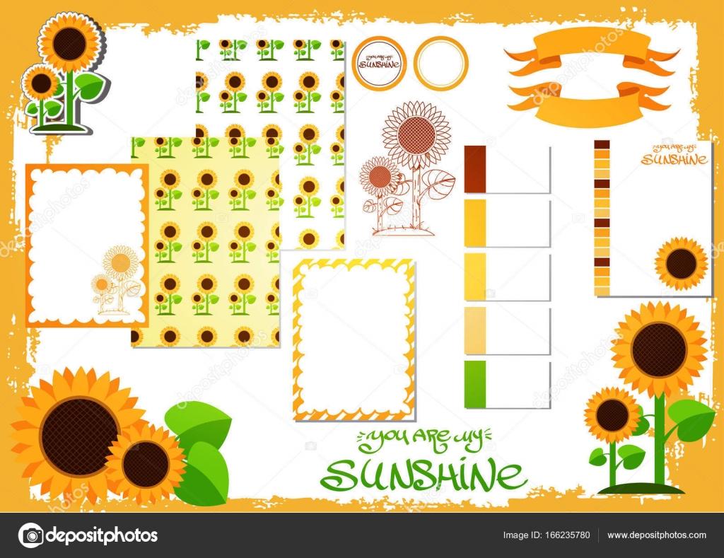 Sommer-Vorlage mit Sonnenblumen — Stockvektor © filkusto #166235780