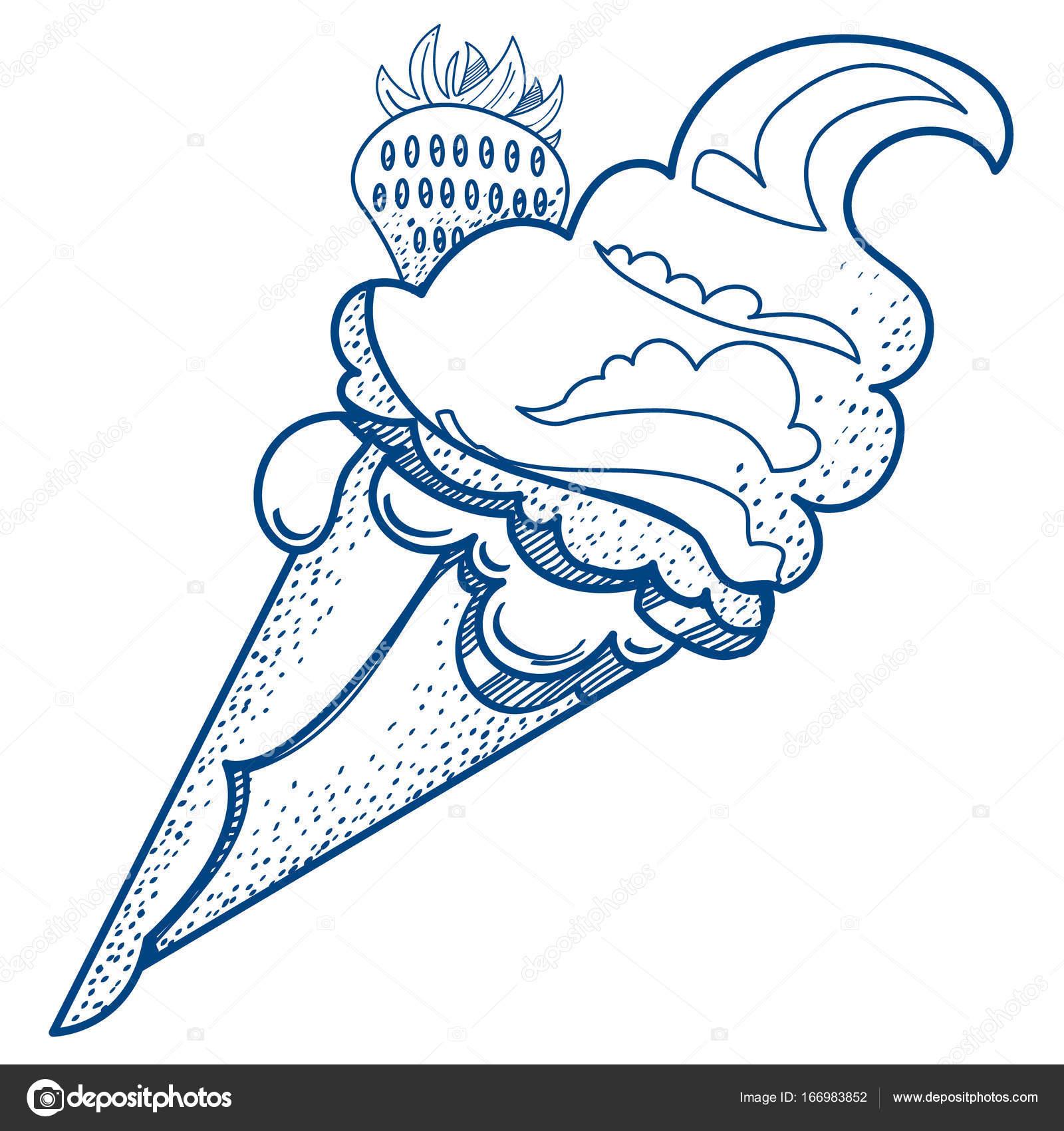 Dondurma Külahı Stok Vektör Filkusto 166983852