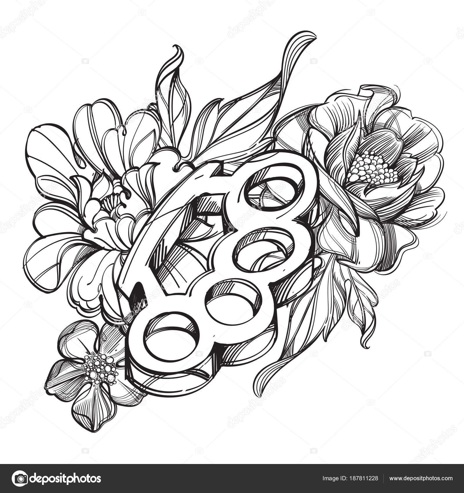 Dibujos Dibujo De Rosas Para Tatuar Nudillos Latón Cinta Bandera