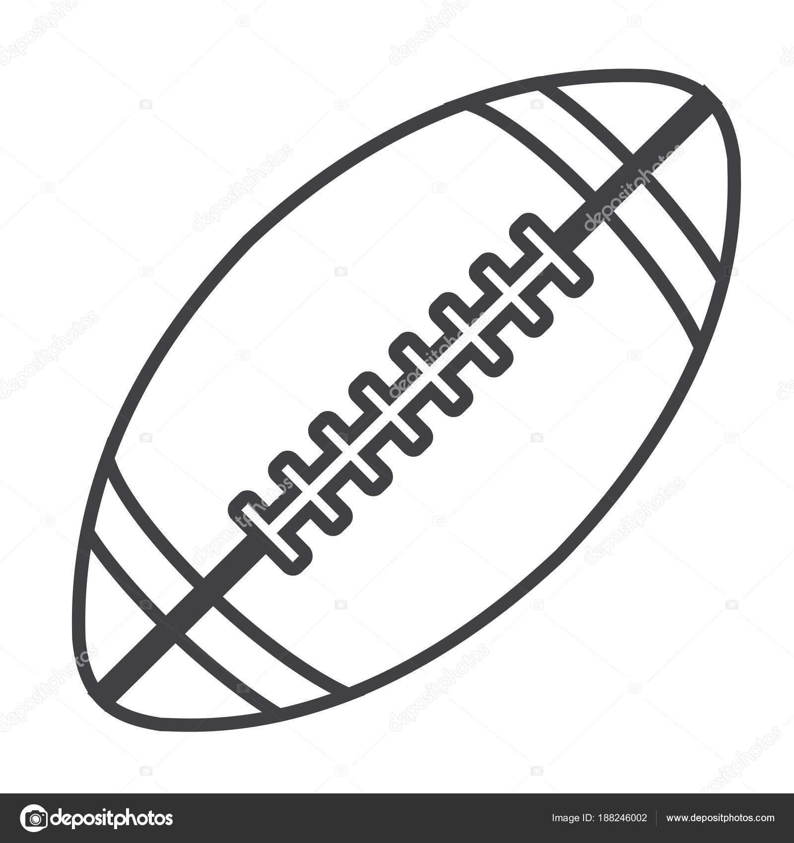 Pelota De Rugby Para Colorear Pelota Futbol Americano