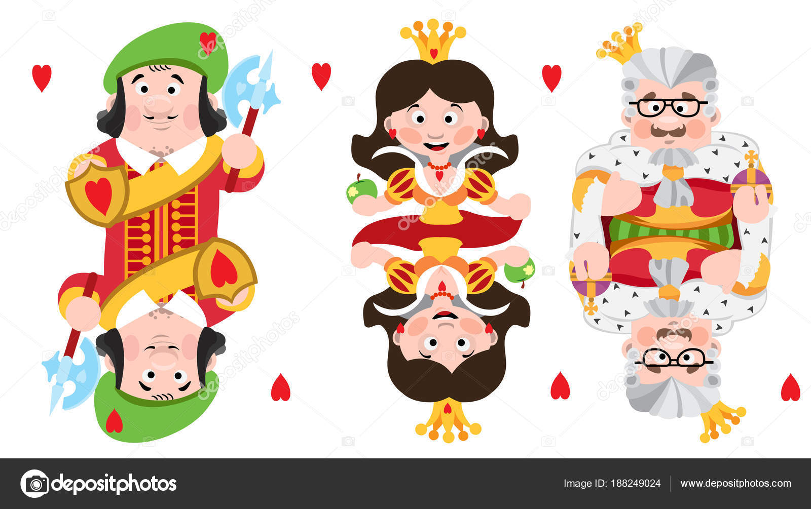 King and queen of hearts cartoon image | King Prince Queen