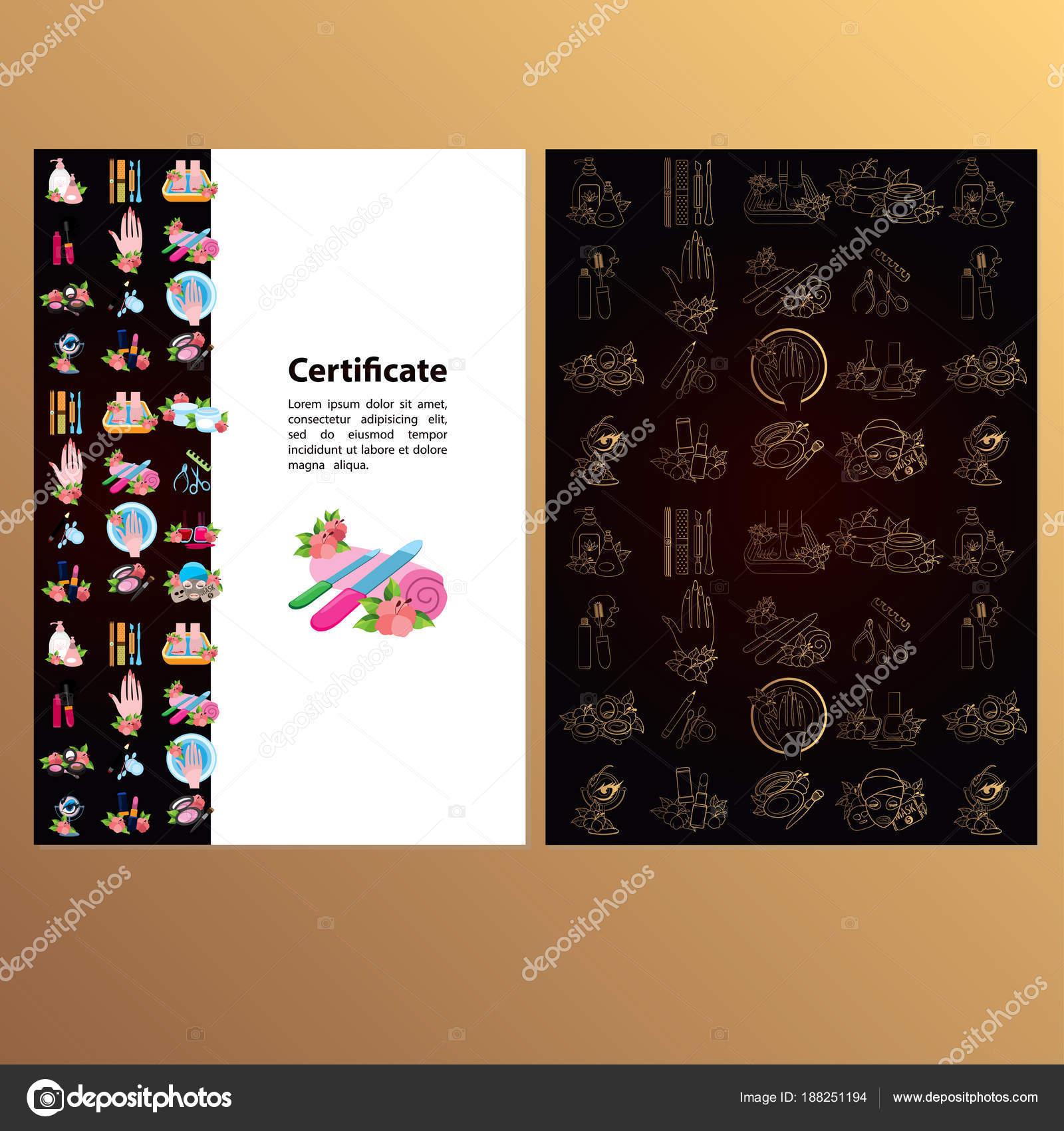 Plantilla Certificado Regalo Para Procedimientos Cosméticos Spa ...