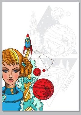 Girl symbolizing zodiac sign Aries