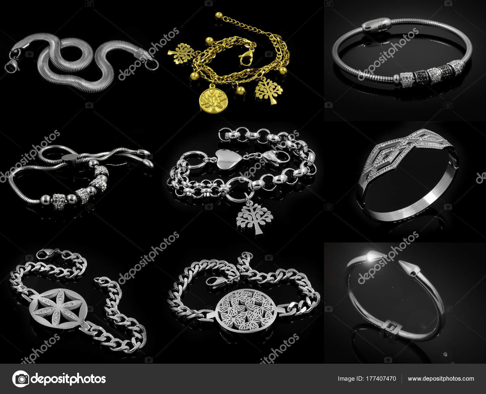 0533cd87b4 Ένα σετ βραχιόλια - Κοσμήματα - φωτογραφίες — Φωτογραφία Αρχείου ...