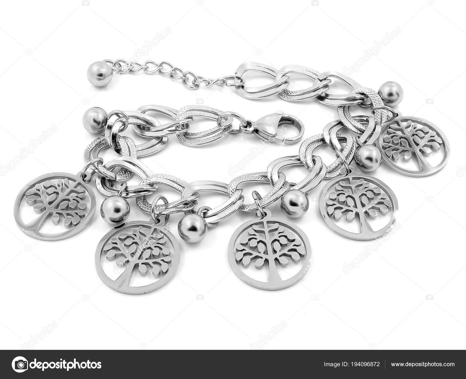 Armband für Frauen - Symbol Baum des Lebens - Edelstahl — Stockfoto ...