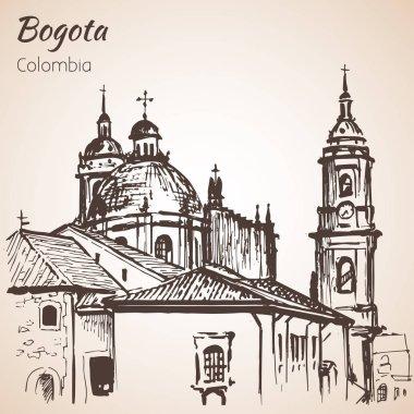 PPrimatial Cathedral of Bogota. Sketch