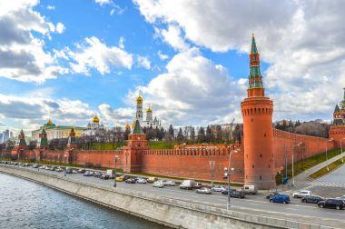 Traffic near Kremlin in Moscow.