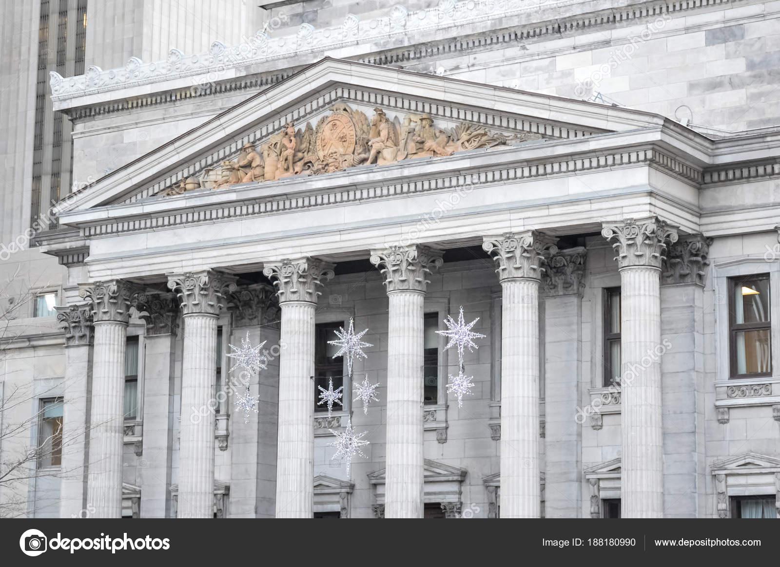 Christmas Decoration Snowflakes Montreal Old Port — Stock Photo ...