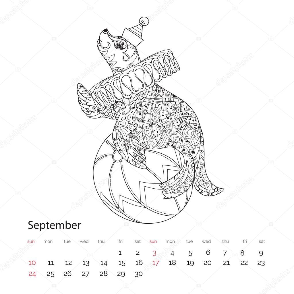Mano doodle dibuja contorno mar León — Vector de stock © YAZZIK ...