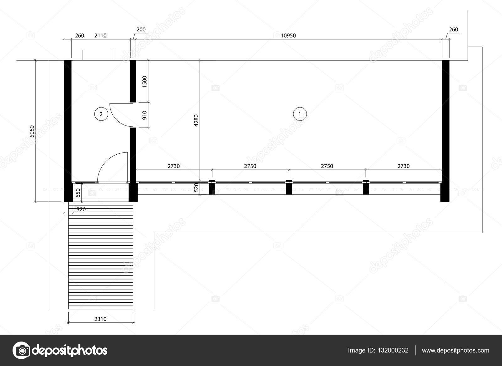 Standard-Office leere Vorlage Grundrisse — Stockvektor © YAZZIK ...