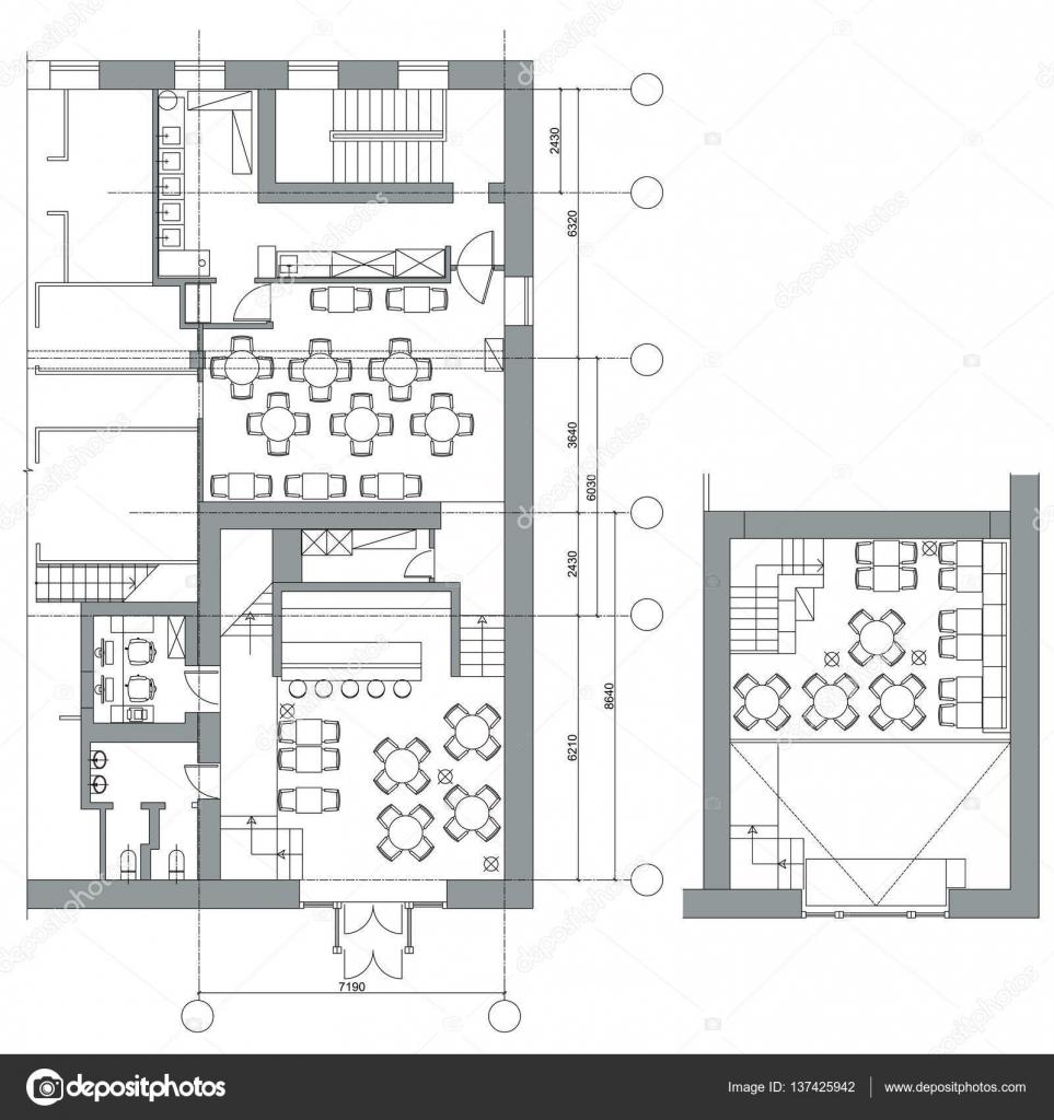 small cafe floor plan design