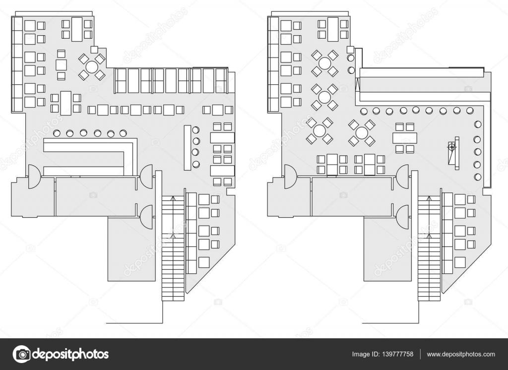 cafe furniture symbols on floor plans