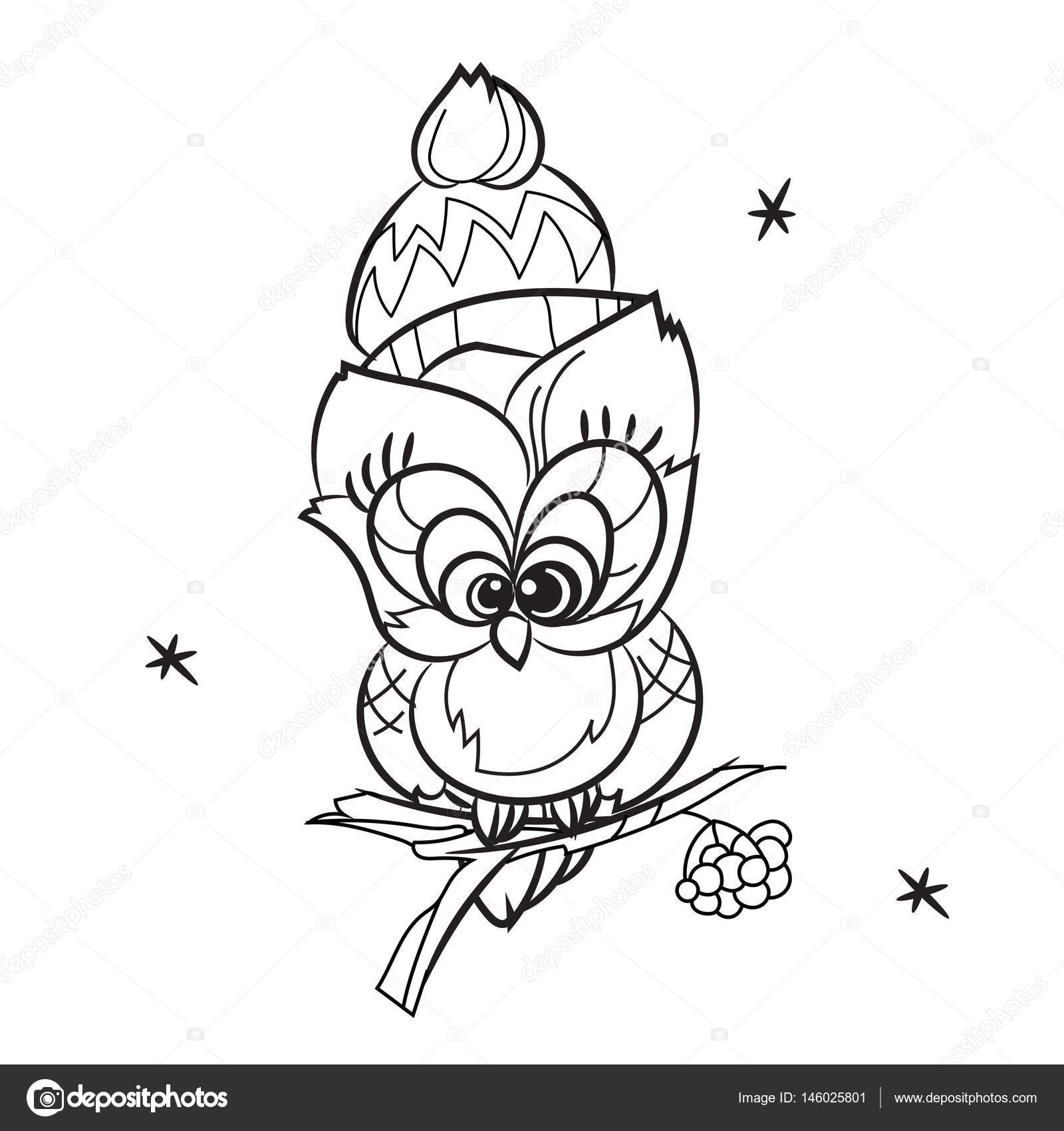 Ağaç Dalı üzerinde Güzel Baykuş Stok Vektör Yazzik 146025801
