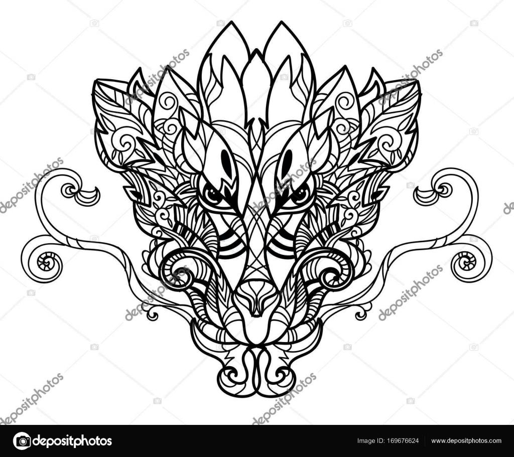 Boceto dibujado a mano dragón — Archivo Imágenes Vectoriales ...