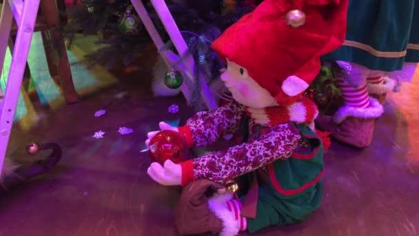 Russland Sankt Petersburg Dezember 2017 Animierte Weihnachten Puppe ...