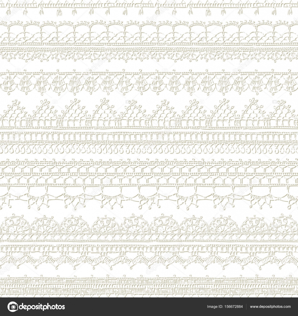 patrón de encaje crochet bordes — Vector de stock © Maljuk #156672884