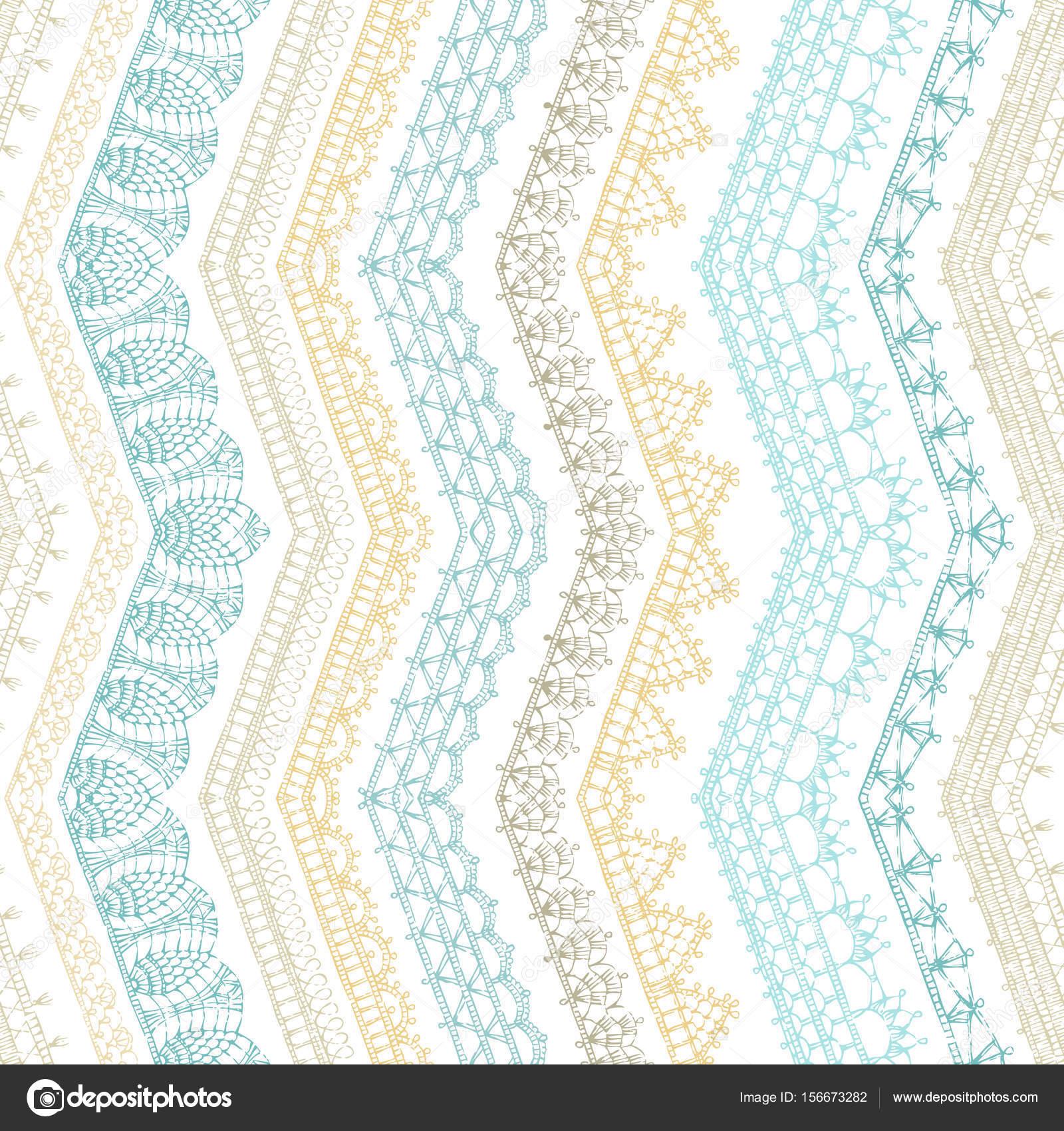 patrón sin costuras zigzag croched — Vector de stock © Maljuk #156673282