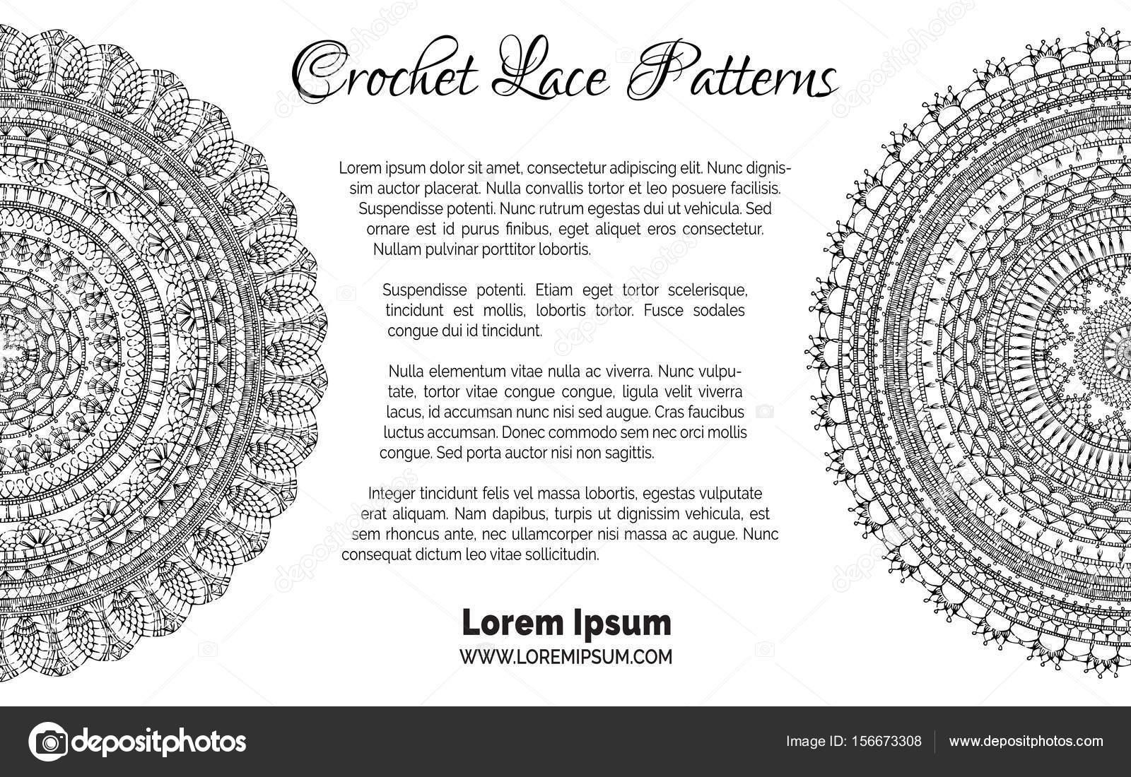 Dibujos: para ganchillo | Fondo de encaje crochet — Vector de stock ...