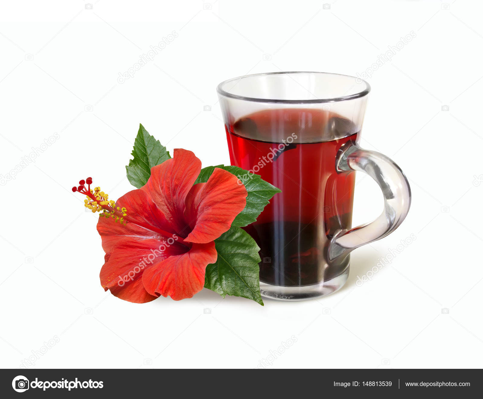 Red hibiscus tea drink and flower isolated on white background red hibiscus tea drink and flower isolated on white background stock photo izmirmasajfo