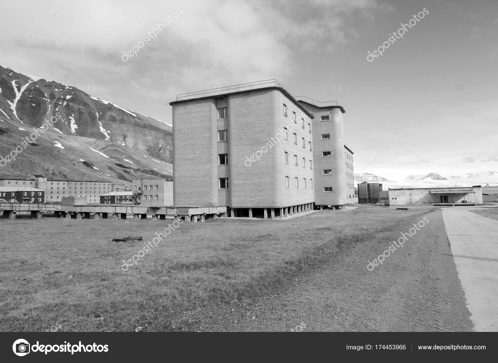 The abandoned russian mining town Pyramiden in Svalbard