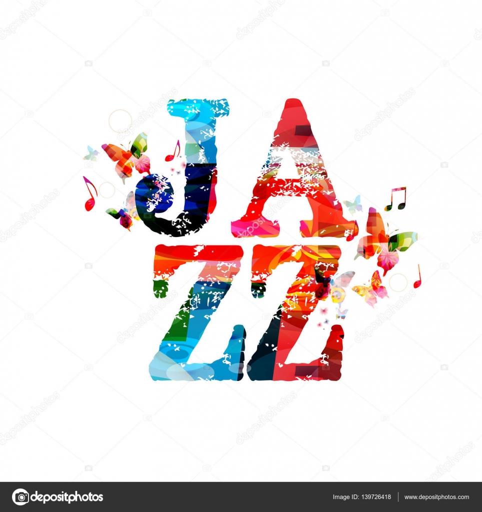 Kolorowy Plakat Koncert Muzyki Jazz Grafika Wektorowa