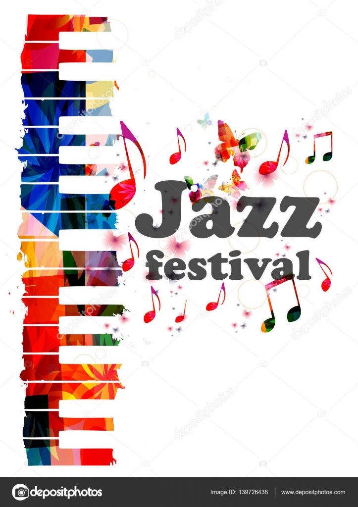 Colorful Jazz Music Concert Poster Stock Vector