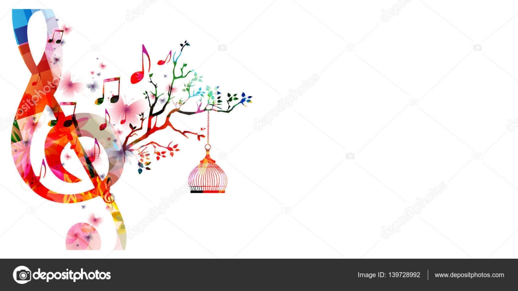 Stock Illustration Creative Music Template With Music