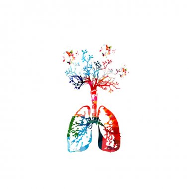 Human lungs with tree illustration