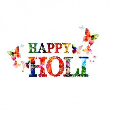 Colorful happy holi background