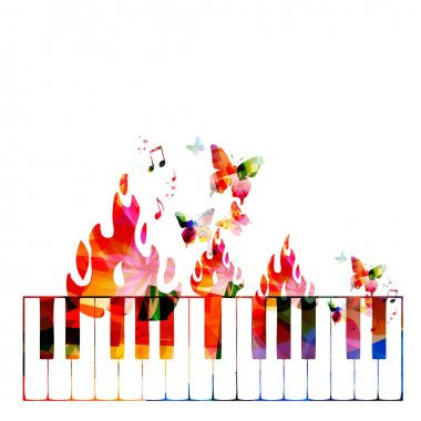 Colorful Creative music concept
