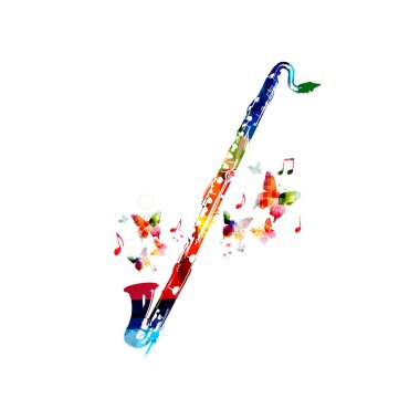 Colorful classical bass clarinet