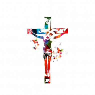 Colorful christian cross