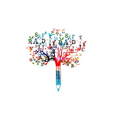 Colorful creative writing concept