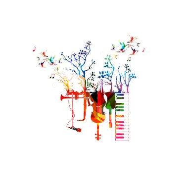 Colorful Music instruments template