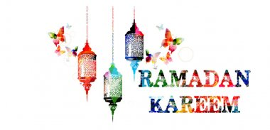 Colorful Ramadan Kareem template