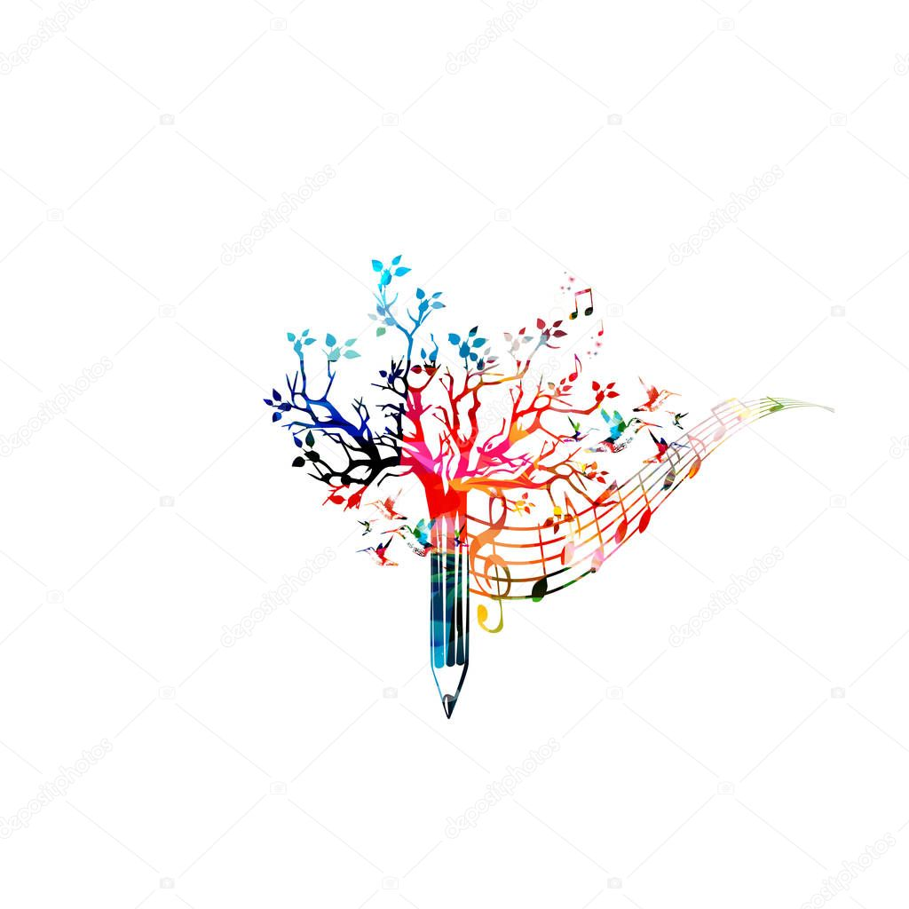 Colorful pencil tree