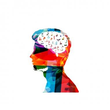Colorful  head illustration