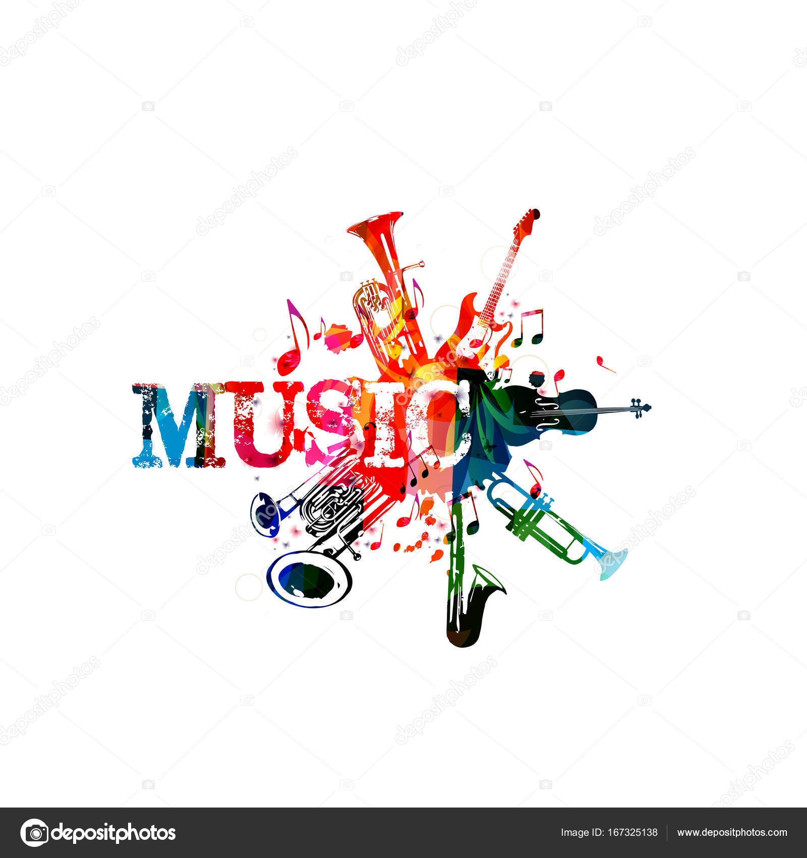 Music Inscription With Music Notes Stock Photo Abstract412