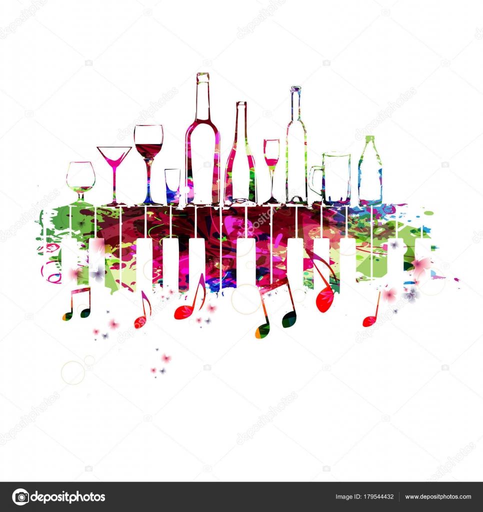 Disegno variopinto musica con tasti del pianoforte for Disegno del piano online