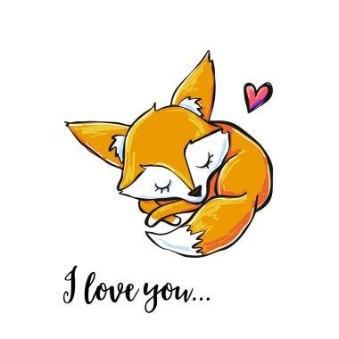 I love you, greeting card