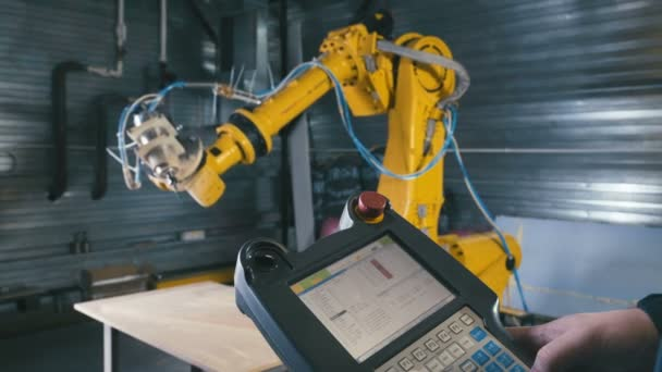 Engineer Using Automated Machine And manufacturing Wire. Machine tool