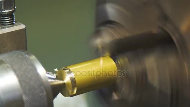 Slow motion. metal workpiece is machined by an electric machine