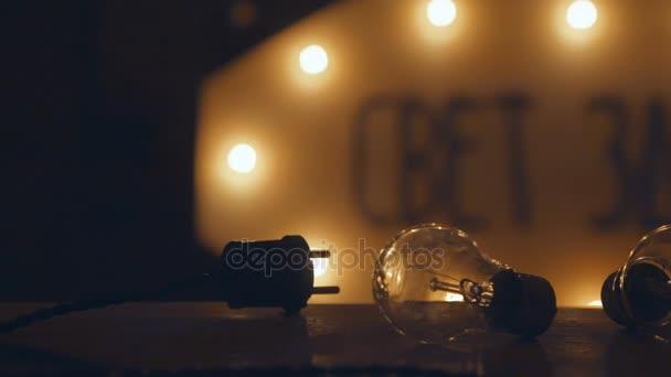 Retro žárovky a moduly. Elektrické retro věnec