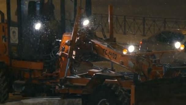 sněhové stroje, poháněné kbelík rypadla odstranění městských komunikací