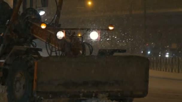 Zasněžovací technika jízdy po silnici, město
