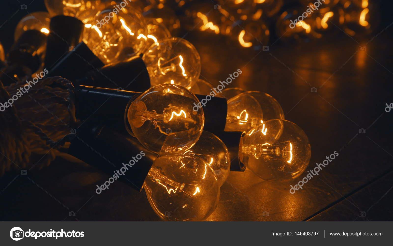 Lampadine industriali retro illuminazione in stile loft