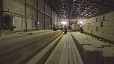 Wood Factory general plan: the production of laminated veneer lumber.