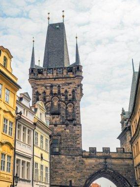 Bridge Tower at Mala Strana district in Prague, Czech Republic