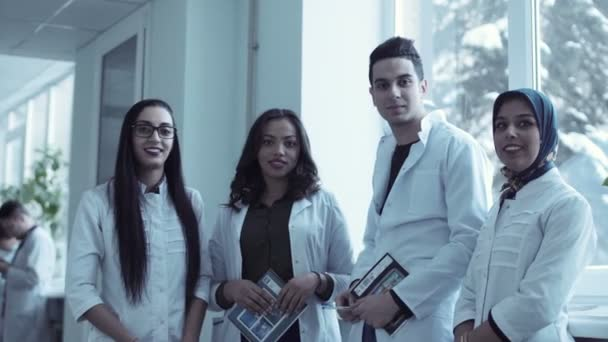 Video clip of four young medical students