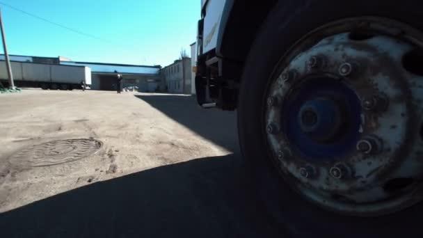 The truck wheels